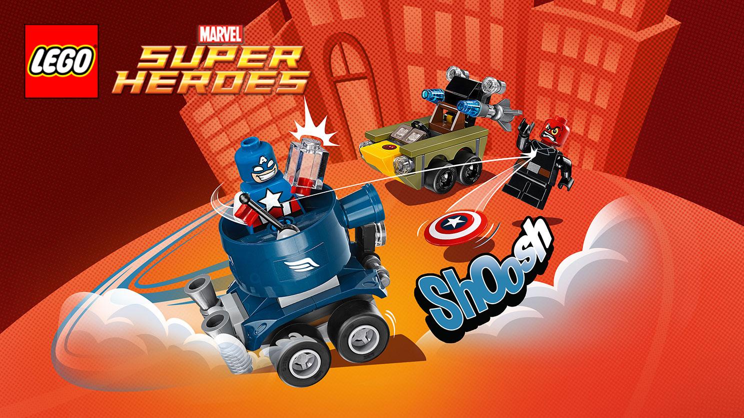 LEGO D C Comics Mighty Micros Super Hero's Mini Figure Red Skull/'s Car 76065